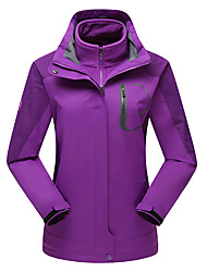 cheap -LEIBINDI Women's Hiking 3-in-1 Jackets Outdoor Winter Waterproof Thermal / Warm Windproof Fleece Lining Dust Proof Breathable 3-in-1