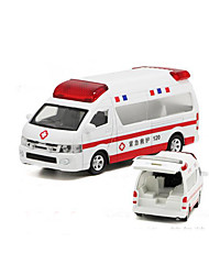 Die-Cast Vehicles Pull Back Vehicles Toy Cars Police car Ambulance Vehicle Toys Car Metal Alloy Plastic 1 Pieces Children's Gift