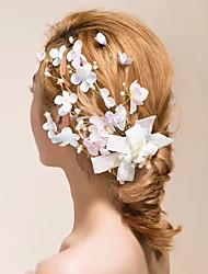 baratos -Tule / Cristal / Tecido Fascinadores / Flores / Presilha de cabelo com 1 Casamento / Ao ar livre Capacete
