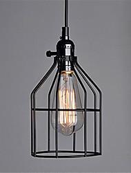 baratos -Gaiola de metal preto do vintage com interruptor loft pingente luzes sala de estar sala de jantar corredor café bares loja de roupas de luz