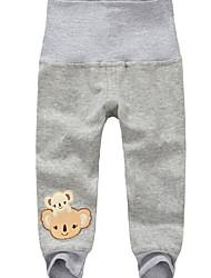 Pantaloni Bambino Casual Stampa animal Cotone Autunno Inverno