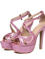 economico -Da donna-Sandali-Matrimonio Casual Serata e festa-Comoda Alla schiava Cinturino alla caviglia Club Shoes-A stiletto-PU (Poliuretano)-Oro