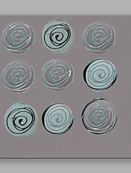 cheap -IARTS Modern Abstract Painting Nine-Round Wall Art For Home Decor Stretchered Ready To Hang