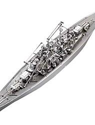 baratos -Quebra-Cabeças 3D / Quebra-Cabeça / Quebra-Cabeças de Metal Barco de Guerra / Porta-Aviões / Encouraçado Faça Você Mesmo / Clássico Para