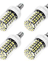 6W E14 LED Corn Lights T 108 leds SMD 5733 Cold White 550lm 6000K AC 220-240V