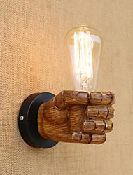 baratos -Regional Retro Moderno / Contemporâneo Luminárias de parede Para Resina Luz de parede 110-120V 220-240V 40W