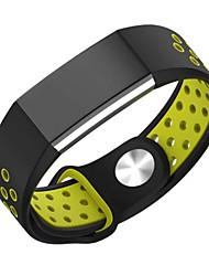 abordables -para la banda de reloj cargo2 Fitbit deporte doble del color correa de silicona de la correa de reemplazo agujero transpirable