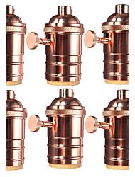 6 Pcs E26/ E27 Industrial Light Socket Vintage Edison Pendant lamp Metal holder With Knob