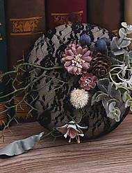 Tessuto di lino headpiece-occasione speciale occasione casual cappelli esterni 1 pezzo