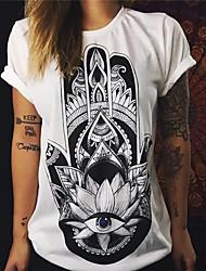 2017 Außenhandel Explosion Modelle Sommer Frauen&# 39; s Mode Retro Sonnenblumen Muster lose kurz-sleeved T-Shirt