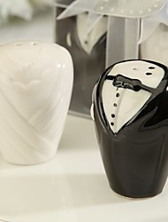 cheap -Ceramic Bride And Groom Salt & Pepper Shakers Wedding Favor (Set of 2)