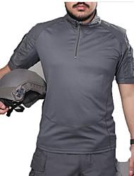 abordables -Homme Manches Courtes Tee-Shirt de Chasse Tactique Classique Hauts/Top pour Chasse Sport de détente M L XL XXL
