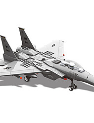 Building Blocks Toys Aircraft Fighter Eagle Military 270 Pieces Boys Boys' Gift