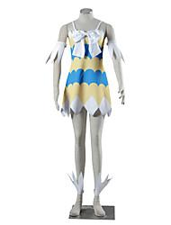 Abiti Cosplay Ispirato da Fairy Tail Kaname Tosen Anime Accessori Cosplay Abito Altri accessori Bianco Giallo Blu Spandez