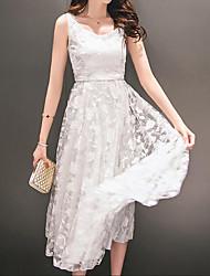 cheap -Women's Lace Dress - Solid, Lace