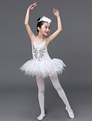 Shall We Ballet Dresses Kid Performance Tulle Ruffles Dress Headpiece