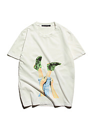 Slim Korean men printed short-sleeved T-shirt men burst location Aberdeen Wind