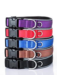 preiswerte -Hund Halsbänder Regolabile / Einziehbar Reflektierend Sicherheit Traning Solide Nylon Schwarz Purpur Braun Rot Blau
