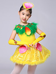 abordables -ballet robes kid performance plumes paillettes 4 pièces par will we®