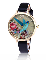 cheap -Women's Wrist Watch Casual Watch / Cool PU Band Flower / Casual / Fashion Black / White / Blue / One Year / Tianqiu 377