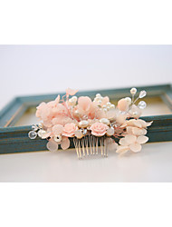cheap -Chiffon Alloy Hair Combs Flowers 1 Wedding Special Occasion Outdoor Headpiece