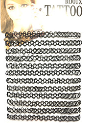 cheap -Women's Tattoo Style Double-layer Choker Necklace Jewelry Resin Choker Necklace , Daily Casual Outdoor