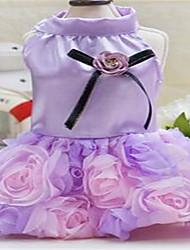 economico -Cane Vestiti Abbigliamento per cani Classico Solidi Grigio Viola Rosa Costume Per animali domestici