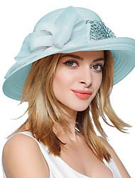 cheap -Women's Vintage Cute Party Work Polyester Bucket Hat Floppy Hat Sun Hat - Patchwork