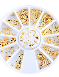 1set Metal Rivet Jewelry Disk Case Cross Pin Rivet Jewelry Nail Art Decoration