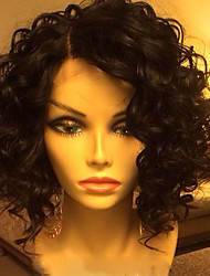 cheap -Human Hair Wig Wavy 100% Hand Tied African American Wig Natural Hairline Short Medium Long 130% Density Women's