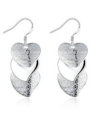 Dámské Visací náušnice Šperky Základní design Srdce Postříbřené Heart Shape Šperky Pro Svatební Párty Denní Ležérní