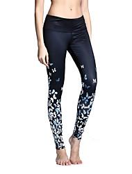 Mulheres Leggings de Corrida Leggings de Ginástica Fitness, Corrida e Yoga Secagem Rápida Respirável Suave Confortável Elástico Redutor