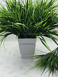 cheap -1Pcs   7-Fork Green Grass Artificial Plants For Plastic Flowers Household Store Rustic Decoration