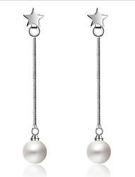 economico -s925 silver star pearl ear line wedding party elegante stile femminile
