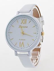 Women's The New Fashion Roman Numerals In Geneva At Line Leisure Belt Geneva Quartz Watch
