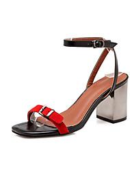 economico -Da donna-Sandali-Matrimonio Casual Serata e festa-Comoda Cinturino alla caviglia Club Shoes-Quadrato Heel di blocco-Felpato PU