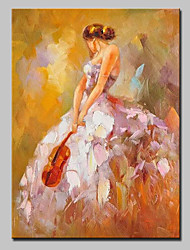 Hand-Painted Modern Abstract Beautiful Girl Oil Painting On Canvas Wall Picture For Home Decoration Ready To Hang