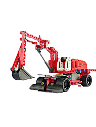 cheap -SY Building Blocks Educational Toy Pull Back Vehicles Excavating Machinery Classic Boys' Toy Gift