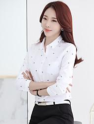 Sinal camisa impressão 2017 nova primavera mulheres&# 39; s blouses polegada camisa