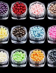 economico -12 Chiodo decorazione di arte strass Perle Cosmetici e trucchi Fantasie design per manicure