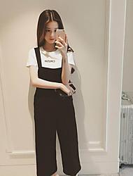 Шифон высокой талией широкий нога брюки комбинезоны весной корейской версии был тонкий девять очков сиамские женщины случайные брюки брюки