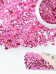 cheap -1 Bottle Sweet Style Charming Pink Nail Art Glitter Water Droplet Paillette Decoration Beautiful Shiny Thin Slice Nail DIY Beauty Decoration D11