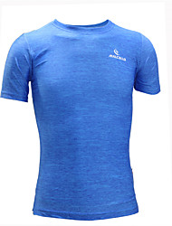 Men's Running T-Shirt Short Sleeves Quick Dry Anatomic Design Ultraviolet Resistant Moisture Permeability Breathable Sweat-wicking smooth