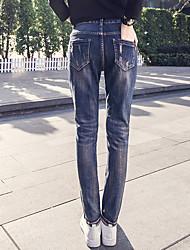i nuovi jeans del foro della molla femminili pantaloni piedi da lettere di patch pantaloni stretch harem pants crollo marea