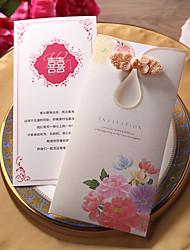 Flat Card Wedding Invitations 50-Envelope Sticker Program Fan Wedding Menu Invitation Cards Thank You Cards Response Cards Invitation