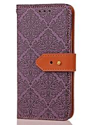 preiswerte -Hülle Für Samsung Galaxy Kreditkartenfächer Geldbeutel mit Halterung Magnetisch Muster Ganzkörper-Gehäuse Blume Hart PU-Leder für Note 5