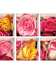 Pink Petals 3D Bathroom Non-Slip Stickers The Floor Tile Individuality Decorative Stickers