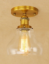 cheap -Pendant Light Modern Retro Glass Lampshade Feature for Metal Living Room Bedroom Dining Room Aisle Fixture Lamp