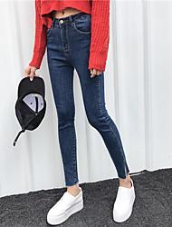 segno minimalista pantaloni verticali laterali pantaloni slim matita sottili nove punti dei jeans piedi nett femminile