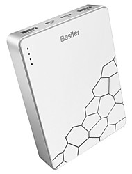 Besiter® 10000mAh power bank 2.4A 2A 1A external battery QC 3.0 Multi-Output with Cable Automatic Adjusted Current